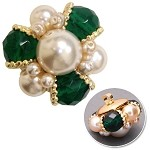 Pearl Beaded Button with Shank, FF-91/2164