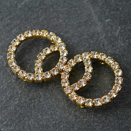 Rhinestone Closure with Shanks by pc, T-1602