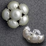 22mm Pearl Button with Shank, FF2008P