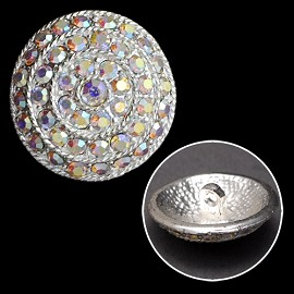 26mm Rhinestone Button with Shank, T-1176
