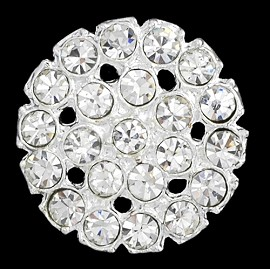 25mm Rhinestone Button with Shank, T-1027