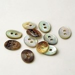 2-Hole Oval Shell Buttons, TR-11177