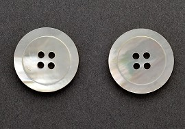 Mother of Pearl Shell Button by 2pcs, GN-2097