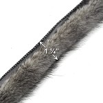 "1-1/4"" Mink Fur Cordedge Cord, 4 Colors, TR-10582"