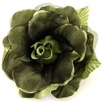 Rose Flower Pin with Leaf by pc, FL-1001