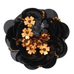 Sequin Bead Flower Pin by pc, FF-VM01-007