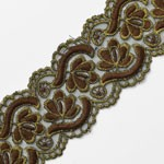 Embroidery Lace Trim with Metallic Thread by Yard, SP-2306