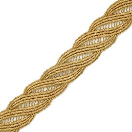 "1-1/2"" Metallic Lace Trim by Yard, LP-MX-4897"