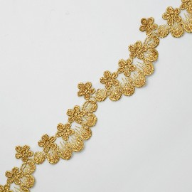 "1-5/8"" Metallic GOLD Lace Trim by Yard, LP-MX-685"