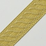 21mm Metallic GOLD Jacquard Ribbon Trim by Yard, SMB-1002A