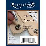 24L Snap Setter Kit-Nickel by each, REAL-T3631-20