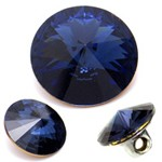 12mm Swarovski Rhinestone 1122 Round Fancy Button with Shank