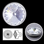 12mm Swarovski Crystal 1770 Rhinestone button with shank