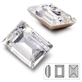 Swarovski Rhinestone 4527 Step Cut Fancy Stone, 14 x 10mm, 18 x 13mm