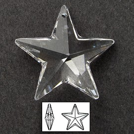 20mm Swarovski Crystal 6714 Star Pendant