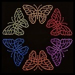 Butterfly Metal Studs Iron-on Motif by PC, H-0274