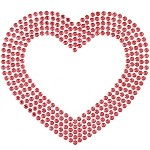 Heart Rhinestuds Iron-on Motif Heat Transfer by pc, H-1917