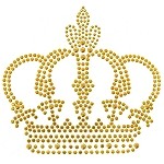 Crown Rhinestuds Iron-on Motif by PC, H-1895