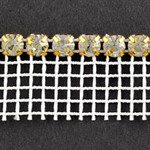 SS 20 Machine-cut Rhinestone Banding Trim by Yard, RBD-1000