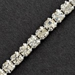 1-Row Rhinestone Banding Trim by Yard, RBD-1003