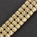 3-Row Rhinestone Banding Trim by Yard, RBD-1004