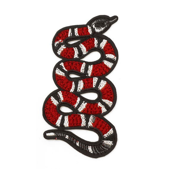 Snake Embroidered Iron On Applique Patch Joyce Trimming