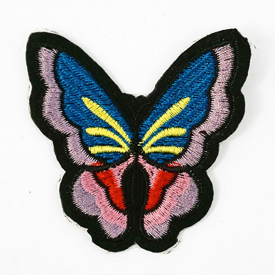 Butterfly embroidered iron on applique patch inch