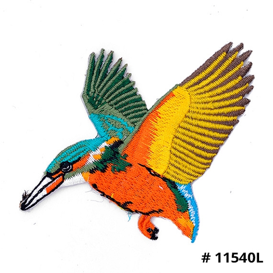 Bird Embroidery Iron On Applique Patch
