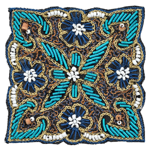 Sequin beaded embroidery bullion applique patch may