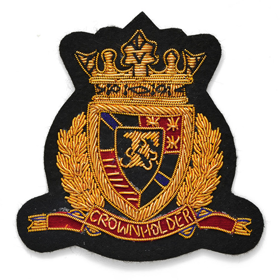 Bullion Wire Embroidered Sew-on Applique Badge Patch | Joyce