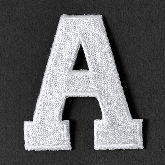 quot white alphabet letter iron on patch applique joyce 2 white alphabet letter iron on patch joyce trimming 2