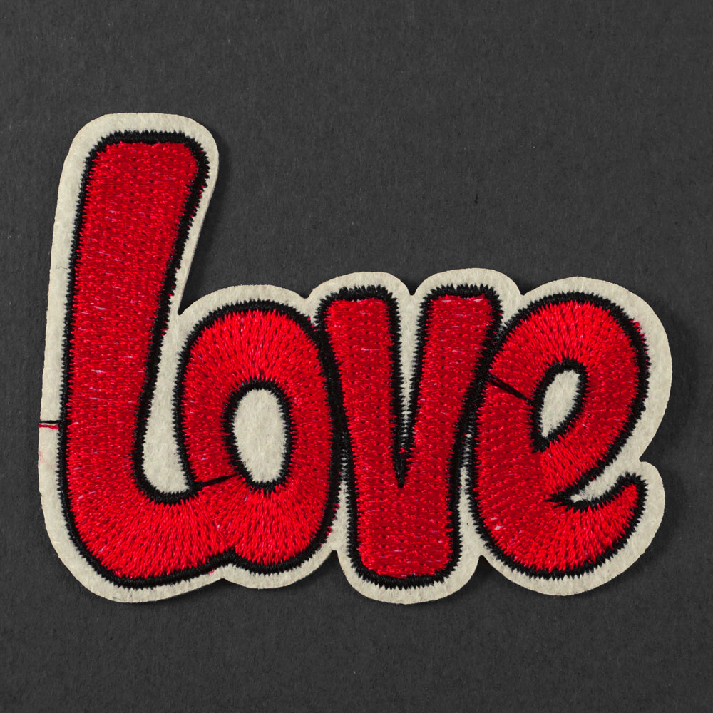 Love Embroidered Iron-On Applique Patch | Joyce Trimming