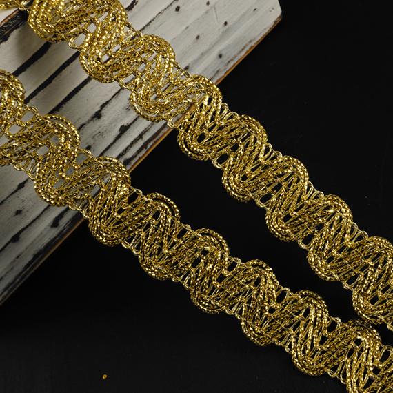 Gold trim applique