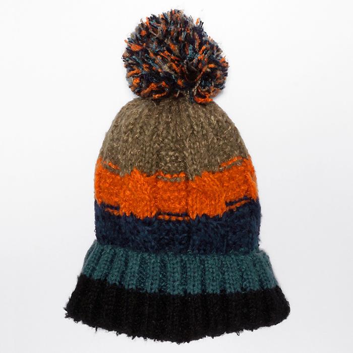 Rainbow Winter Knit Pompom Beanie Hat by pc 55b4ef4e231