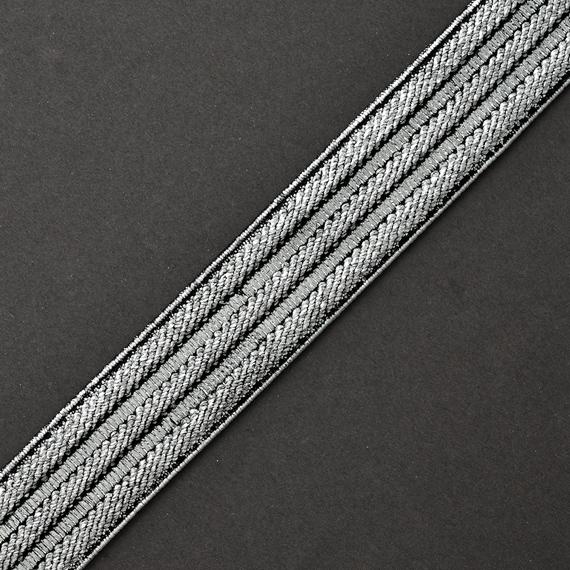 Elastic Band by 2-yards Metallic SILVER Elastic Stretch Ribbon Trim 20mm TR-11028 3//4