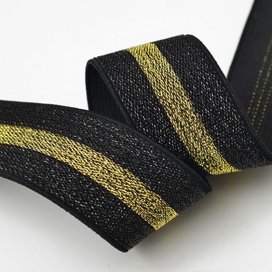 Metallic Elastic Stretch Ribbon Trim - 1-1/2 | Joyce Trimming