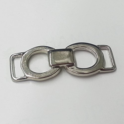 Metal Connector Silver Circle Metal Buckle Accessory Metal Chain Shoe Buckle 2 PCS
