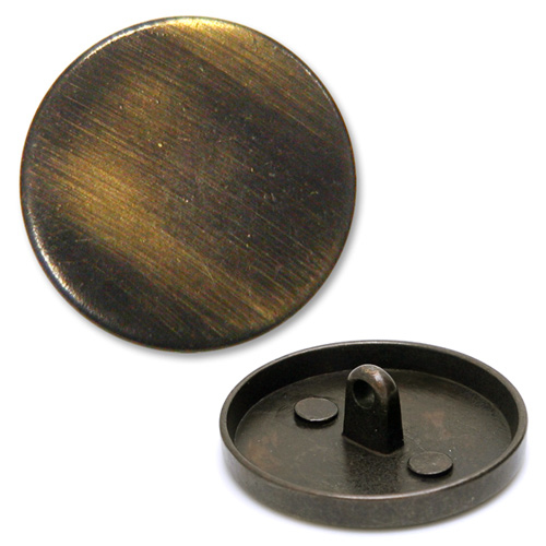 Antique Brass Brushed Button With Shank Bon 10043