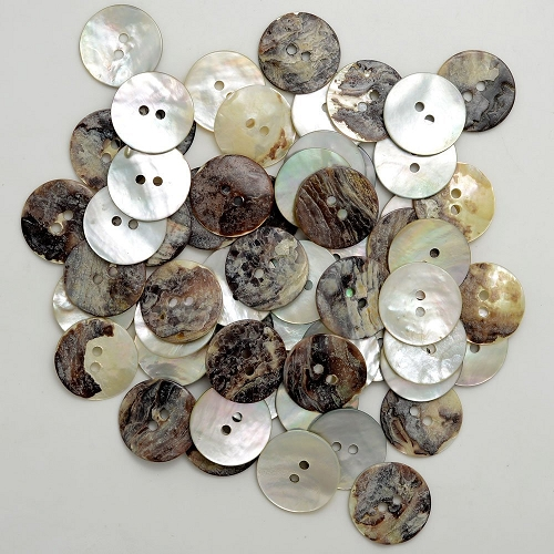 Natural Agoya Shell Round Buttons By 0 5 Lbs Tr 11179