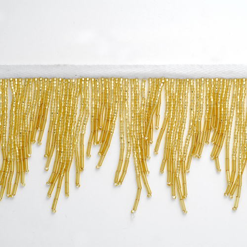 Long Beaded Fringe By The Yard