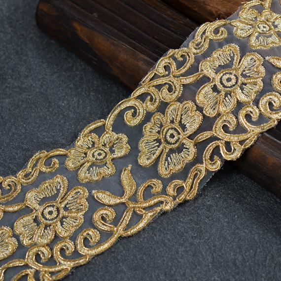 Metallic Gimp Embroidery Lace Trim 2 1 2 Inch Joyce