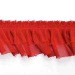 2 Layers Ruffled Pleated Lace Trim by Yard, TR-10216