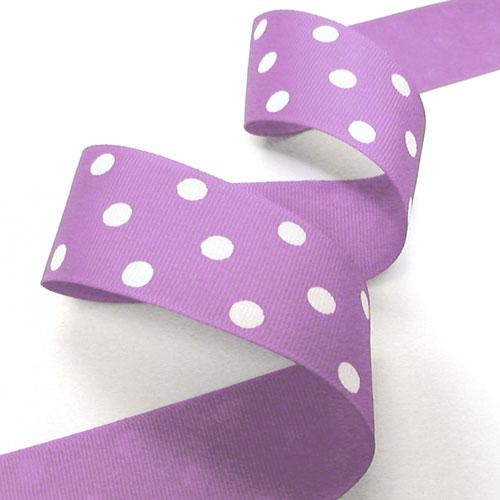 1 Yard 1 Dark Blue Ribbon with Black Spots