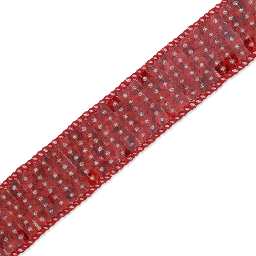 15mm NEW.! .......RED STRETCH SEQUIN TRIM