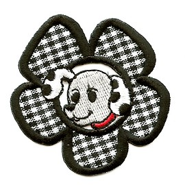 Flower Dalmatian Iron-On Applique Patch by PC, PA-BB-A14601A