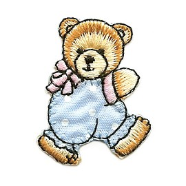 Teddy Bear Iron-On Applique Patch by PC, PA-IA-T02596
