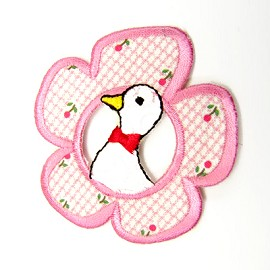 Flower Duck Iron-On Applique Patch by PC, PA-BB-A14603-1