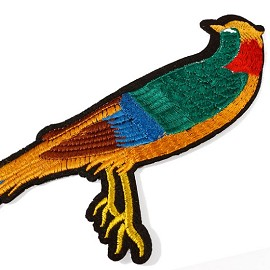 Parrot Bird Embroidered Iron-On Applique Patch by PC, TR-11286