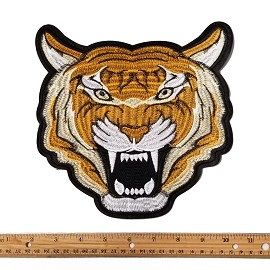 "8-1/4"" Tiger Embroidered Iron-On Applique Patch by PC, TR-11300"