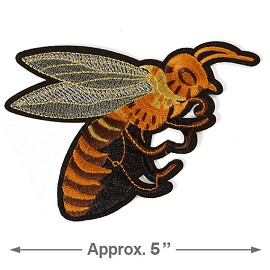 Bee Embroidered Iron-On Applique Patch by pc, TR-11308